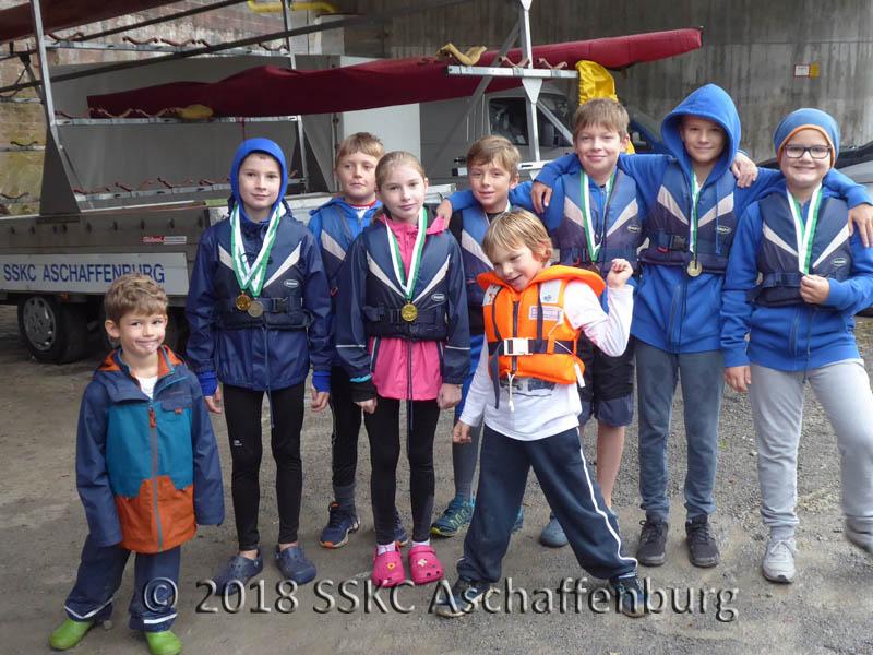 Nachwuchs auf der Schülerregatta 2018 in Gemünden