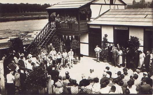 Erstes Bootshaus 1928