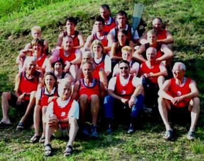 2003: Die SSKC Teilnehmer an der Drachenboot EM in Auronzo